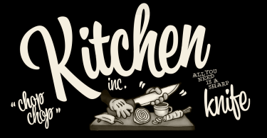 Kitchen [3 Fonts] | The Fonts Master