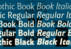 Ideal Gothic [6 Fonts] | The Fonts Master