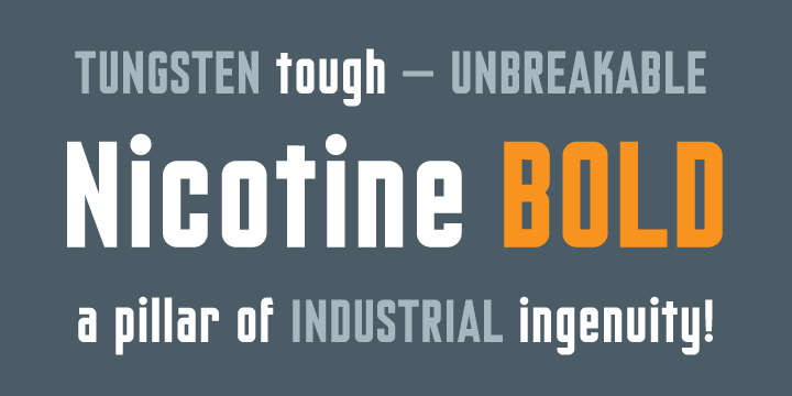 Nicotine [2 Fonts] | The Fonts Master