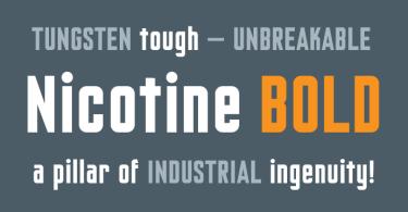 Nicotine [2 Fonts]