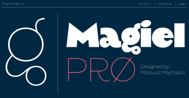 Magiel Pro [2 Fonts] | The Fonts Master