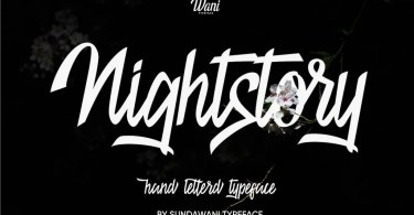 Nightstory [1 Font] | The Fonts Master