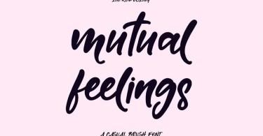 Mutual Feelings [1 Font] | The Fonts Master