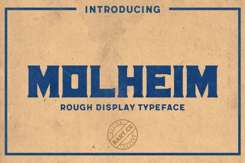 Molheim Rough [1 Font]   The Fonts Master