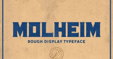 Molheim Rough [1 Font] | The Fonts Master
