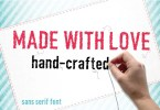 Made With Love (Scratchy) [1 Font] | The Fonts Master