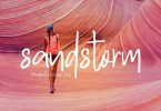 Sandstorm [1 Font] | The Fonts Master