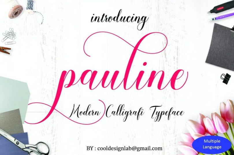 Pauline Script [1 Font] | The Fonts Master