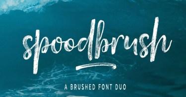 Spoodbrush [6 Fonts] - The Fonts Master
