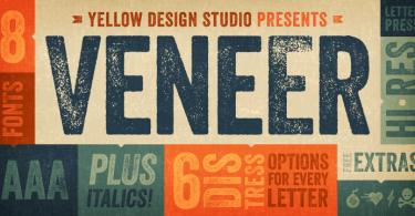 Veneer [8 Fonts] | The Fonts Master