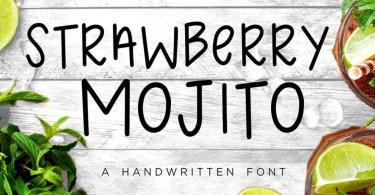 Strawberry Mojito [1 Font] | The Fonts Master