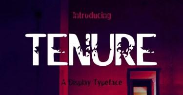 Tenure [1 Font] | The Fonts Master