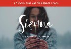 Sienna [4 Fonts + Extras] | The Fonts Master