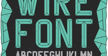 Wirefont [2 Fonts] | The Fonts Master