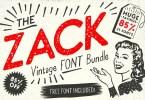 Zack Vintage Font Bundle [21 Fonts] | The Fonts Master