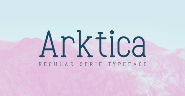 Arktica [1 Font] | The Fonts Master