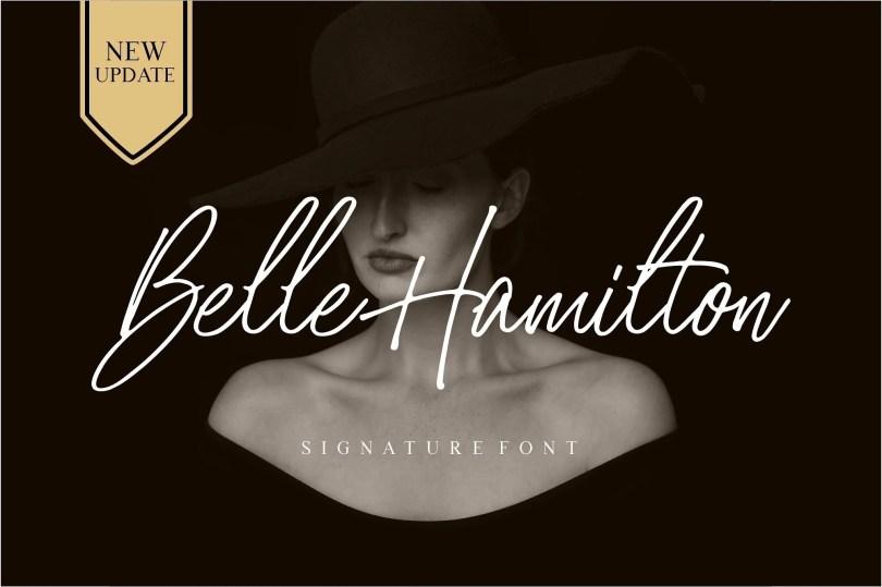 Belle Hamilton [2 Font]   The Fonts Master