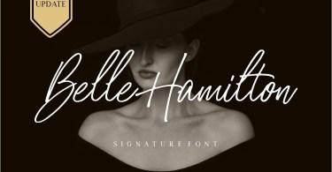 Belle Hamilton [2 Font] | The Fonts Master