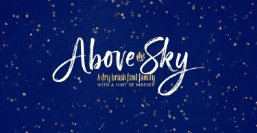 Above The Sky [5 Fonts] | The Fonts Master