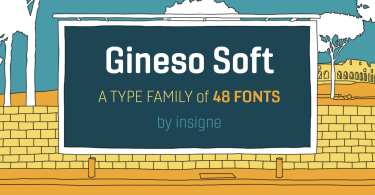 Gineso Soft [48 Fonts]   The Fonts Master