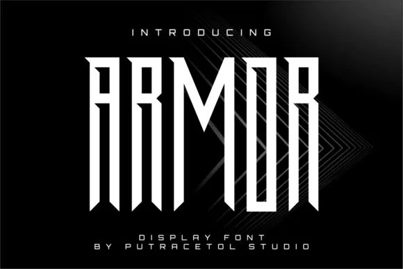 Armor [1 Font]   The Fonts Master