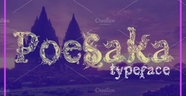 Poesaka [1 Font] | The Fonts Master