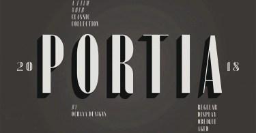Portia [6 Fonts] | The Fonts Master