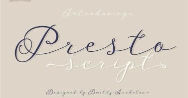 Presto Script [1 Font] | The Fonts Master