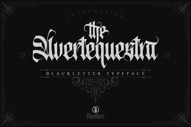 Avertequestra [1 Font] | The Fonts Master