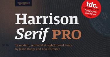 Harrison Serif Pro Super Family [18 Fonts] | The Fonts Master
