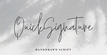 Quicksignature [1 Font] | The Fonts Master