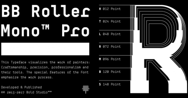 Bb Roller Mono Pro Super Family [60 Fonts] | The Fonts Master