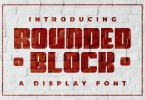 Rounded Block [1 Font] | The Fonts Master