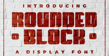 Rounded Block [1 Font]   The Fonts Master