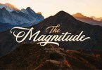 The Magnitude [1 Font]   The Fonts Master