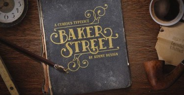 Baker Street Inline [1 Font] | The Fonts Master