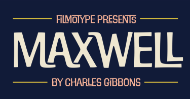Filmotype Maxwell [1 Font] | The Fonts Master