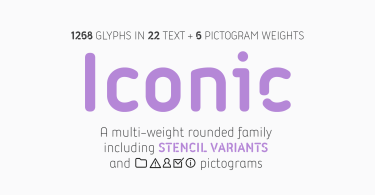 Iconic Super Family [30 Fonts] | The Fonts Master