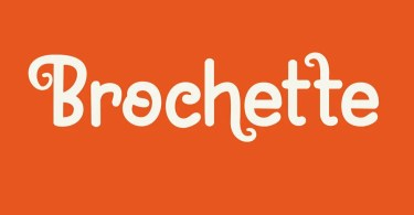 Brochette [2 Fonts] | The Fonts Master