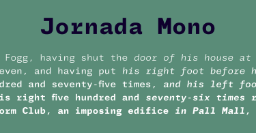 Jornada Mono Super Family [10 Fonts] | The Fonts Master