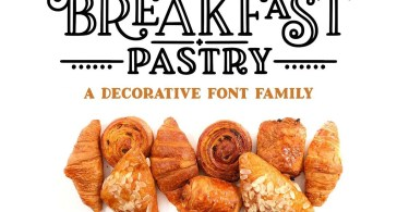 Breakfast Pastry [3 Fonts]   The Fonts Master