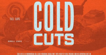 Cold Cuts [10 Fonts] | The Fonts Master