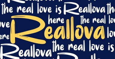 Reallova [1 Font]   The Fonts Master