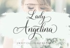Lady Angelina Script [1 Font] | The Fonts Master