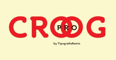 Croog Pro Super Family [8 Fonts] | The Fonts Master