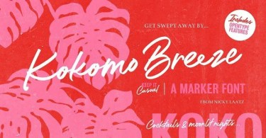 Kokomo Breeze [1 Font] | The Fonts Master