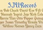 Sjurecord [1 Font] | The Fonts Master