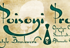 Poisoni Pro [7 Fonts] | The Fonts Master