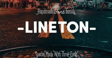 Lineton [3 Fonts] | The Fonts Master