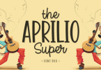 The Aprilio Super [2 Fonts] | The Fonts Master